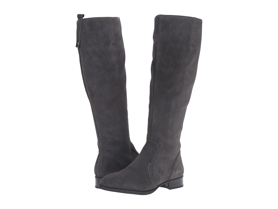 Nine West - Nicolah (Dark Grey Suede) Women's Dress Zip Boots