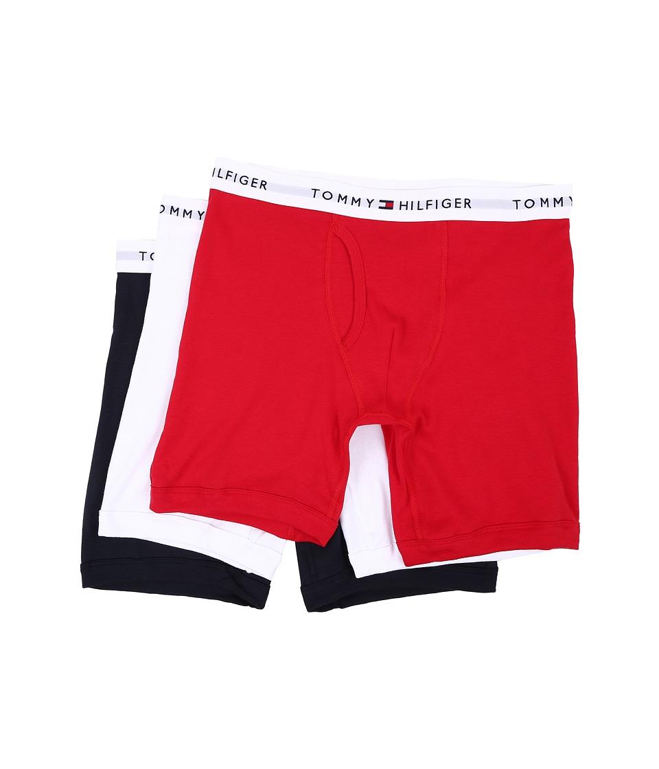 Tommy Hilfiger - Cotton Boxer Brief 3-Pack (Mahogany) Men's Underwear