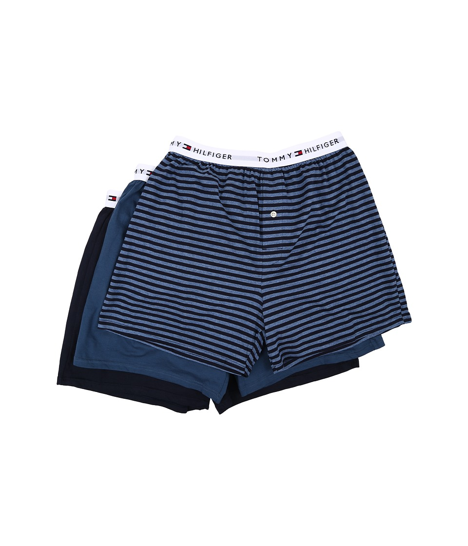 Tommy Hilfiger - Cotton Knit Boxer 3-Pack (Multi) Men's Underwear