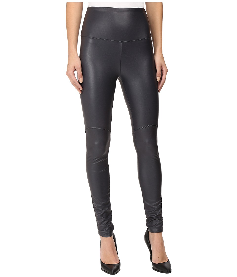 Lysse - Vegan Leather Leggings (Slate) Women's Casual Pants