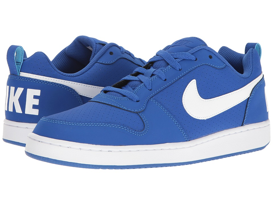 Nike - Court Borough (Game Royal/White) Men's Basketball Shoes