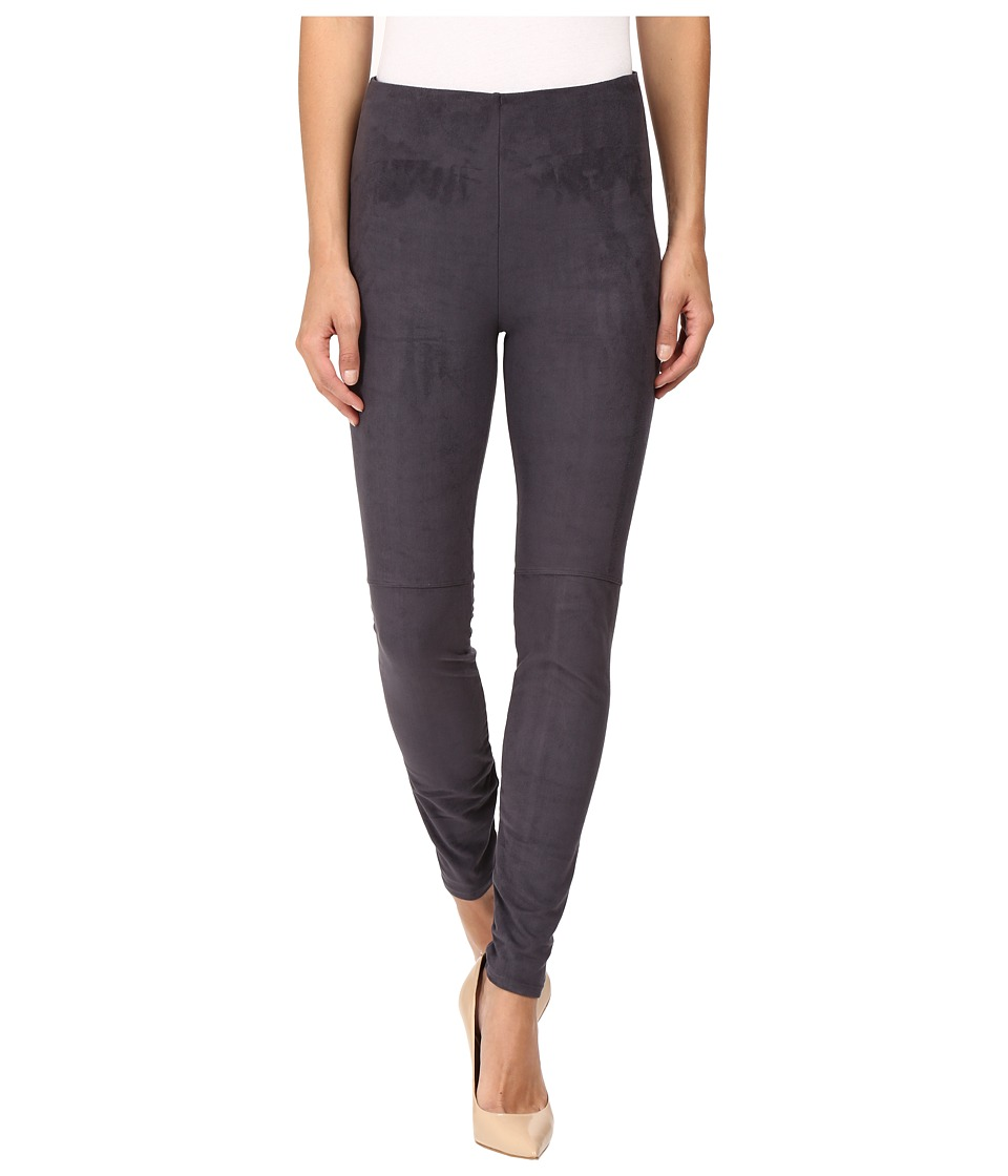 Lysse - High Waist Suede Leggings (Slate) Women's Casual Pants