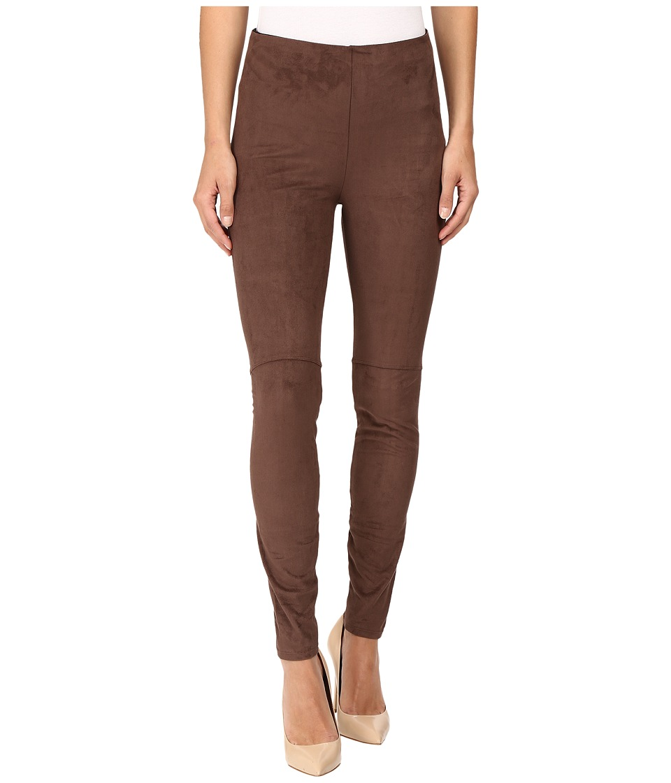 Lysse - High Waist Suede Leggings (Bourbon) Women's Casual Pants