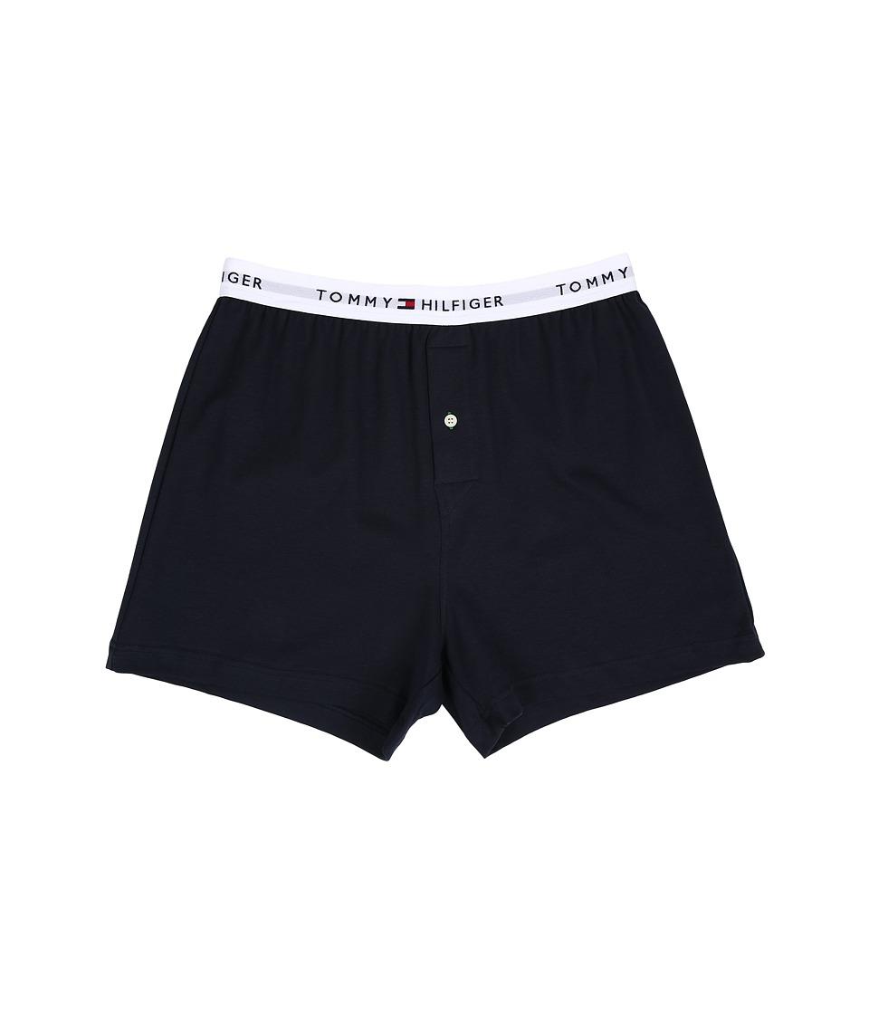 Tommy Hilfiger - Athletic Knit Boxer (Dark Navy) Men's Underwear