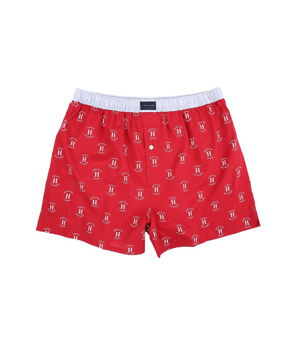 Tommy Hilfiger - Cotton Woven Boxer (Mahogany) Men's Underwear