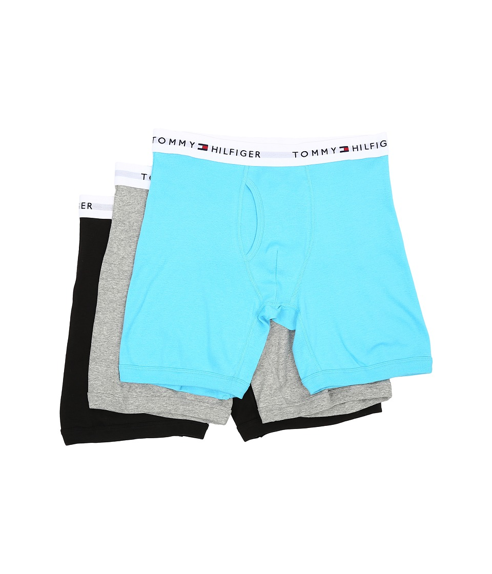 Tommy Hilfiger - Cotton Boxer Brief 3-Pack (Pool) Men's Underwear