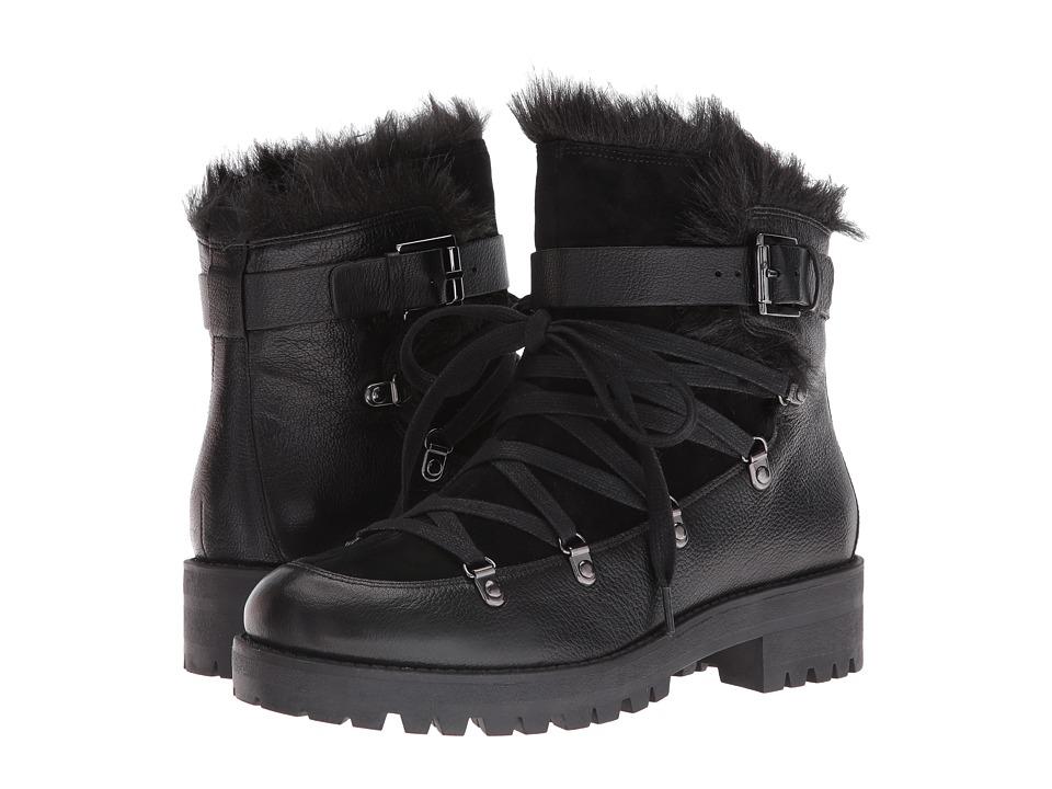 Nine West Orynne Black-Black Leather Boots