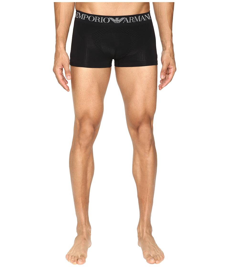 Emporio Armani - 3D Seamless The Body Trunk (Black) Men's Underwear