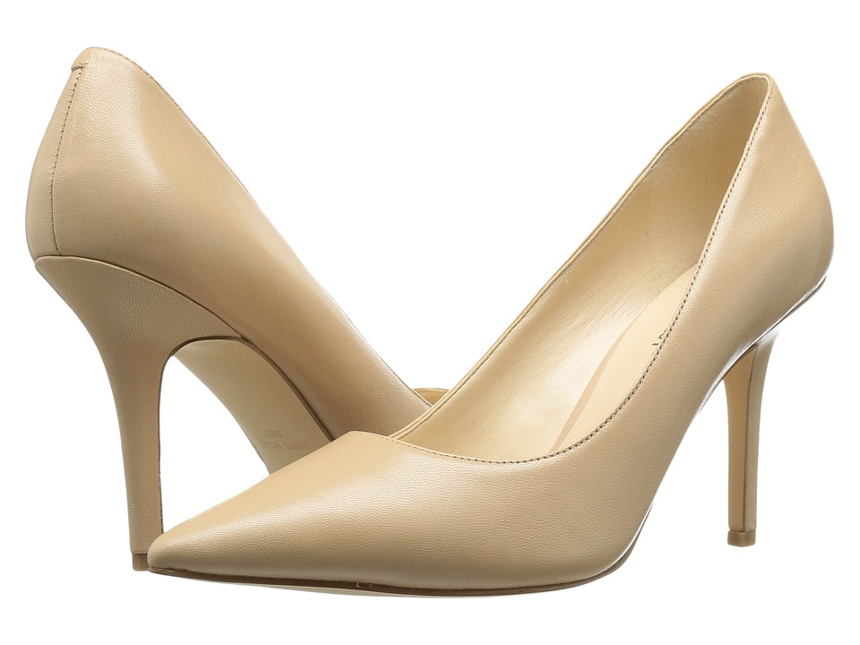 Nine West Jackpot Natural Leather 1 High Heels