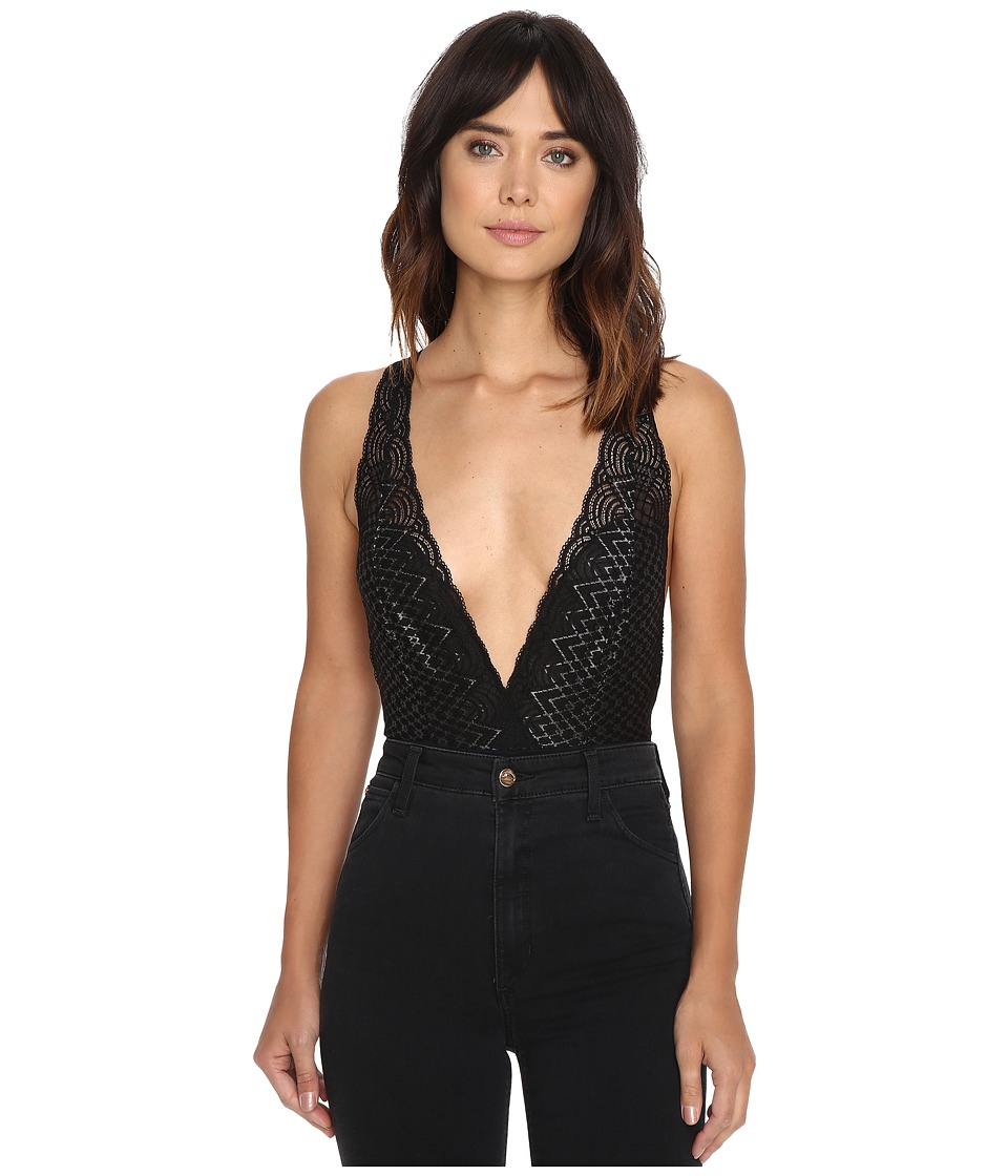 Free People - Sinking Ships Bodysuit (Black Combo) Women's Jumpsuit & Rompers One Piece