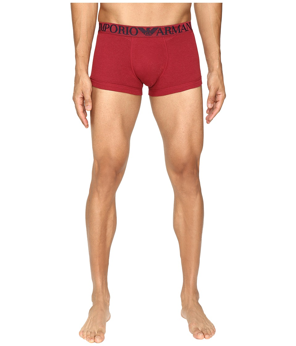 Emporio Armani - Cotton Mesh Trunk (Ribes) Men's Underwear