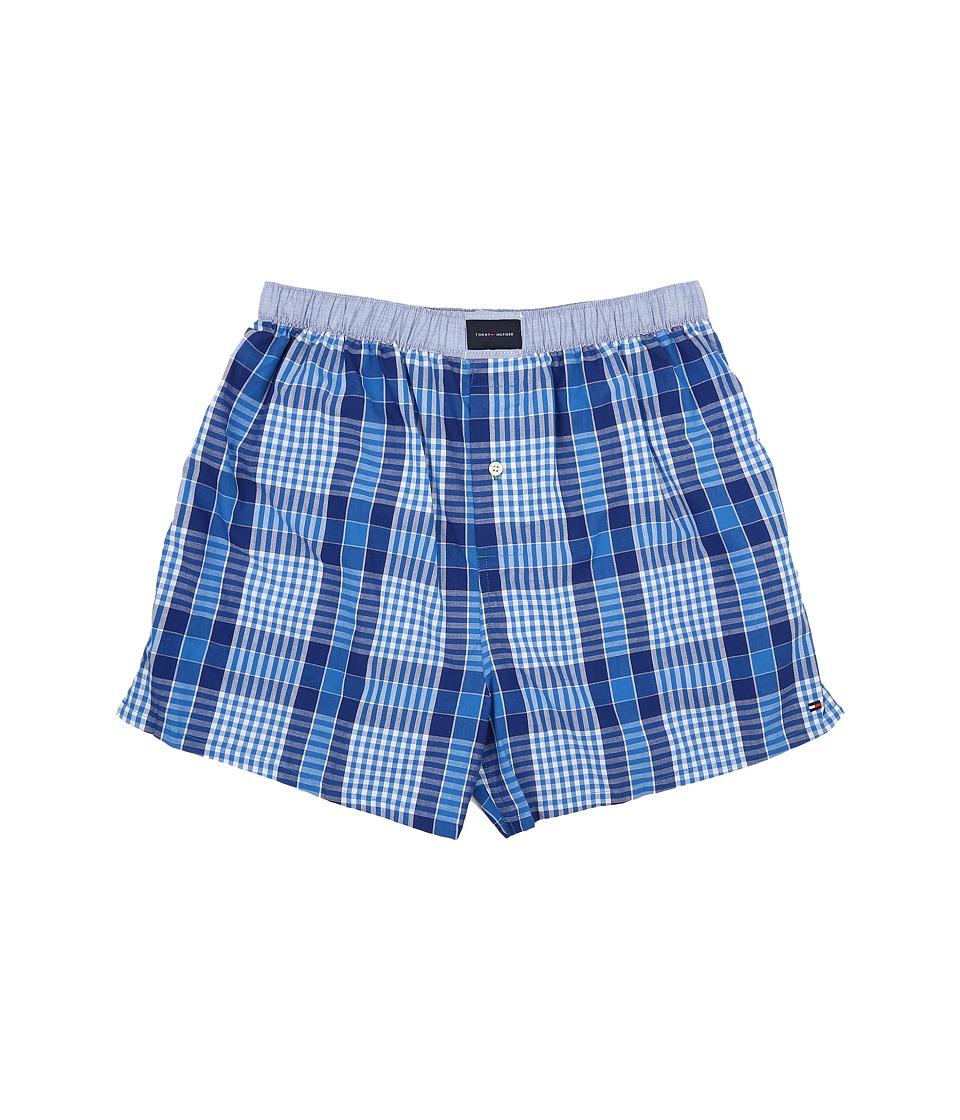 Tommy Hilfiger - Woven Boxer (Blue Frost) Men's Underwear