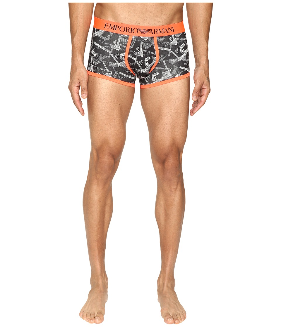 Emporio Armani - All Over Printed Eagle Trunk (Printed Black) Men's Underwear