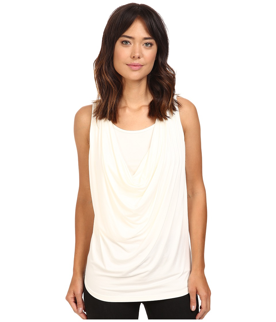 Christin Michaels - Freida Sleeveless Cowl Neck Top with Built-In Camisole (Beige) Women's Sleeveless