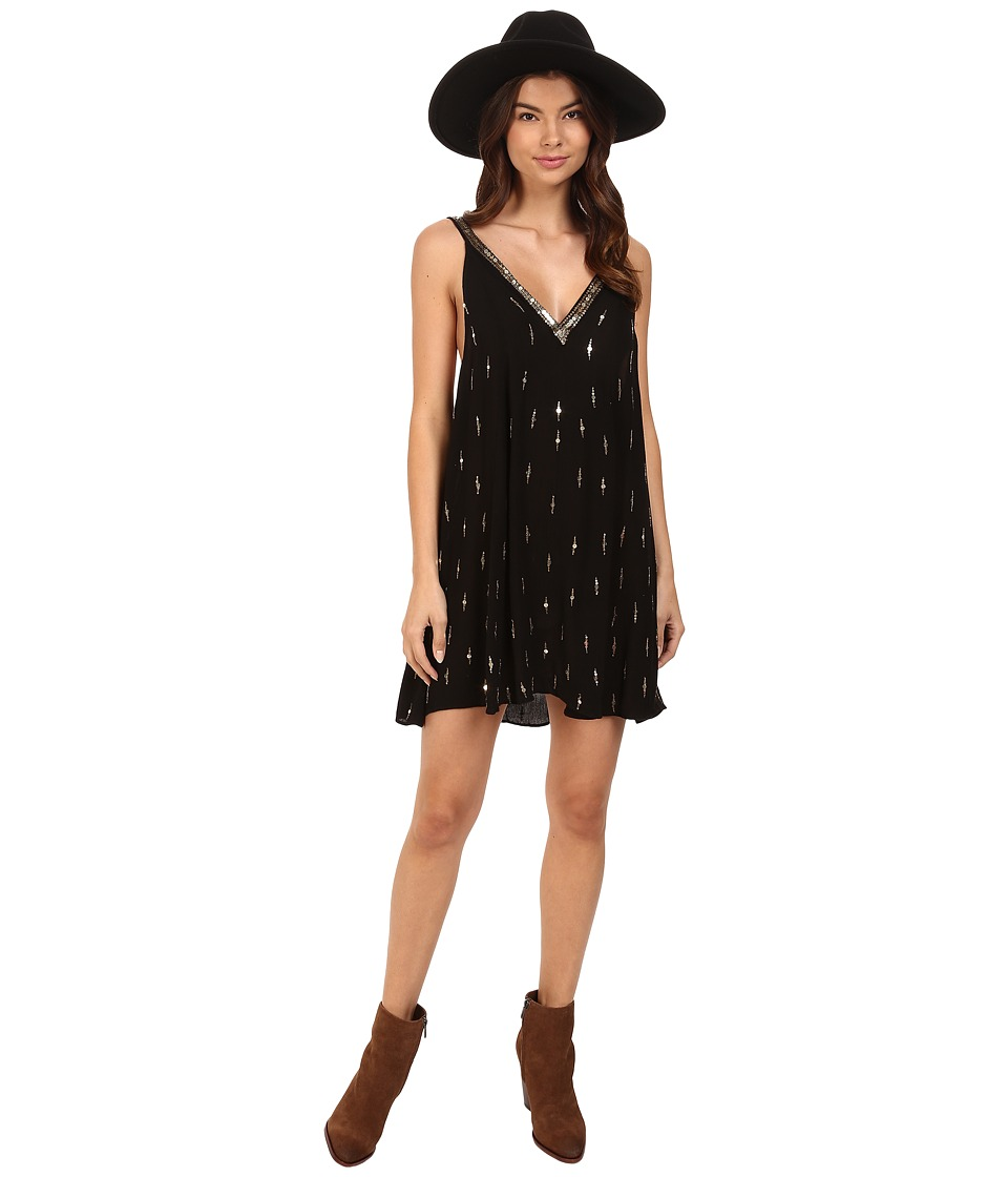 Free People - Rising Sun Slip (Black) Women's Dress