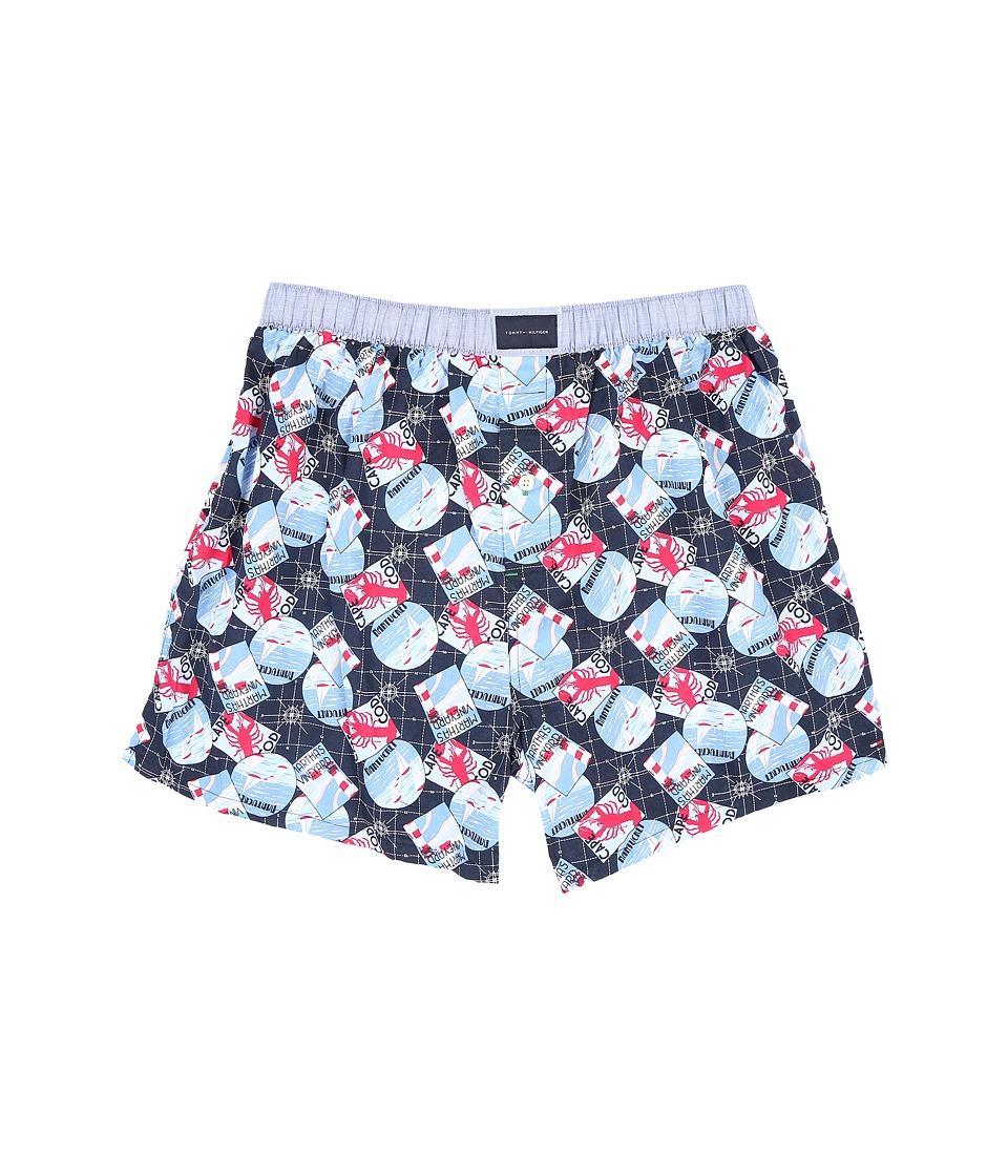 Tommy Hilfiger - Woven Boxer (Riviera Blue) Men's Underwear