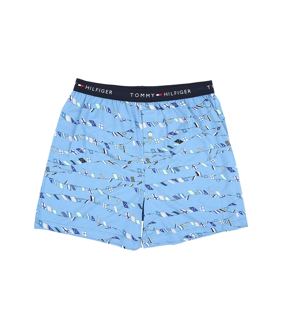 Tommy Hilfiger - Knit Boxer (Cornflower) Men's Underwear