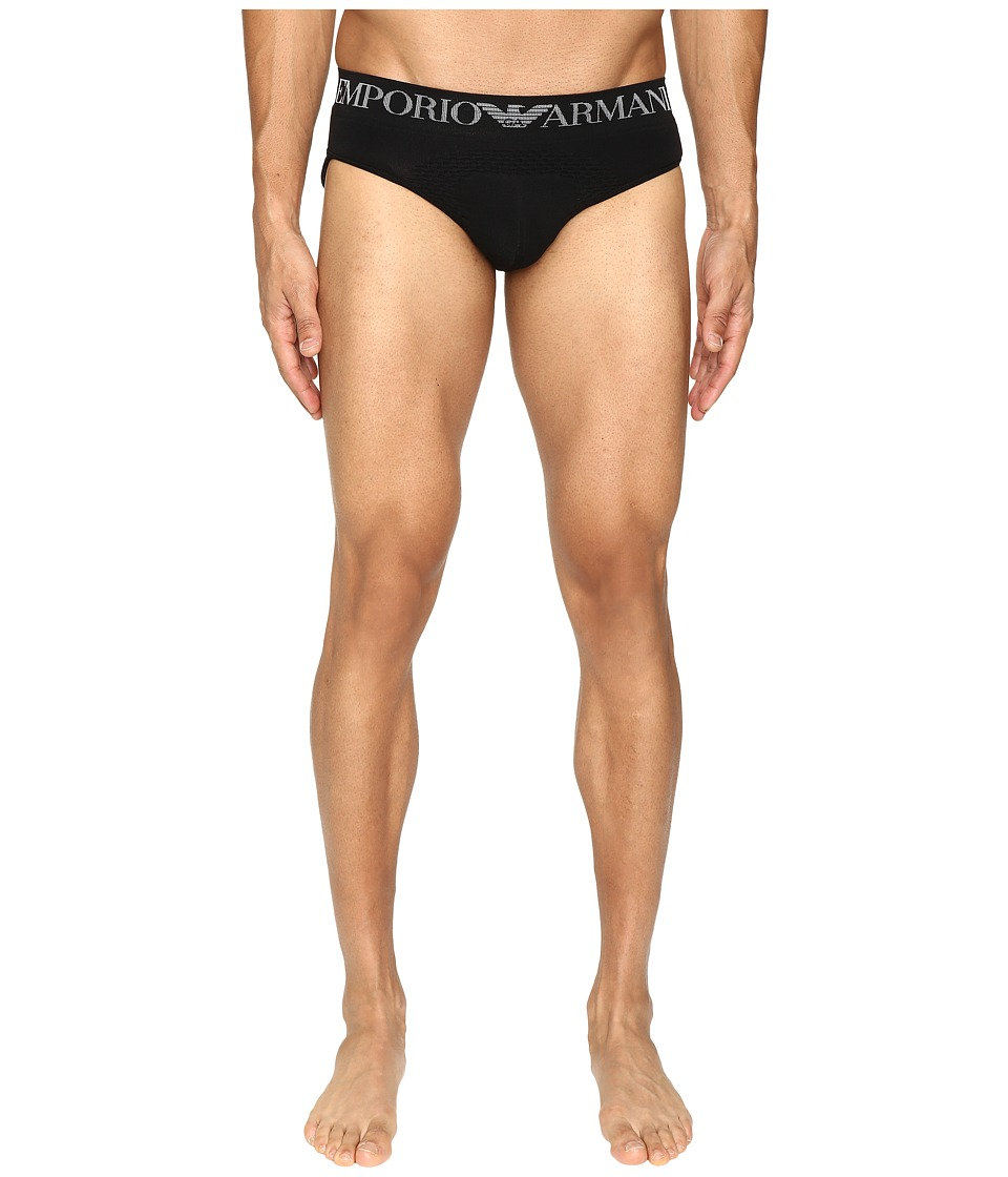 Emporio Armani - 3D Seamless The Body Brief (Black) Men's Underwear
