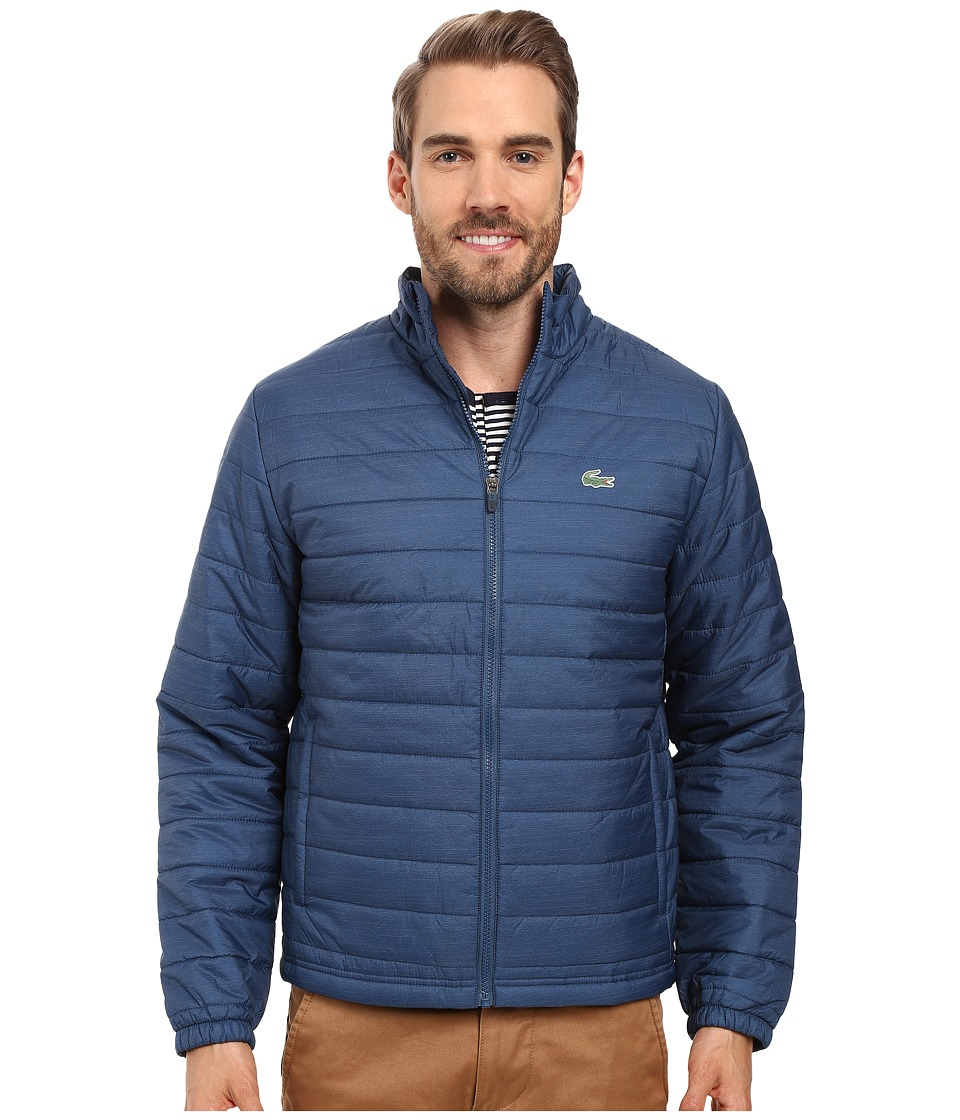 Lacoste - Sport Ripstop Jacket (Yachting Blue/White) Men's Coat
