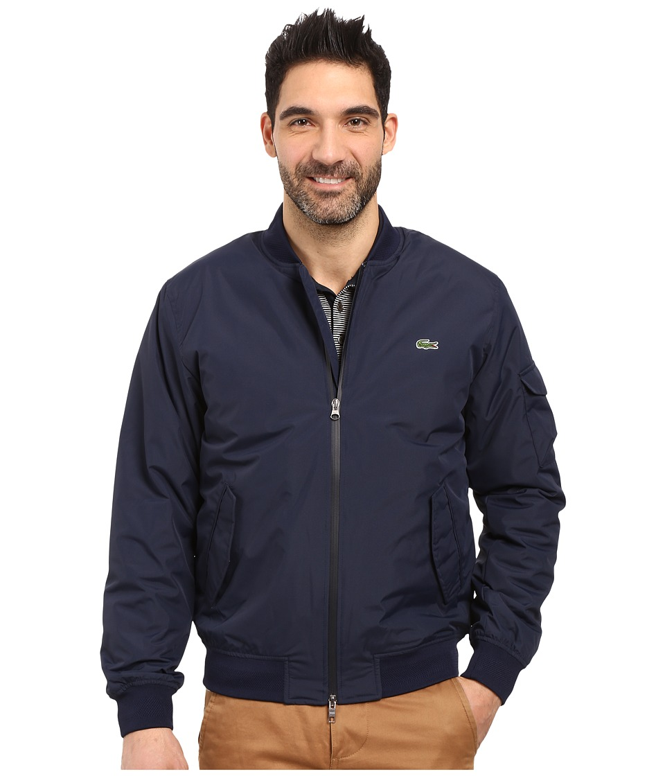 Lacoste - Taffeta Bomber Lightly Padded (Navy Blue/Navy Blue) Men's Clothing