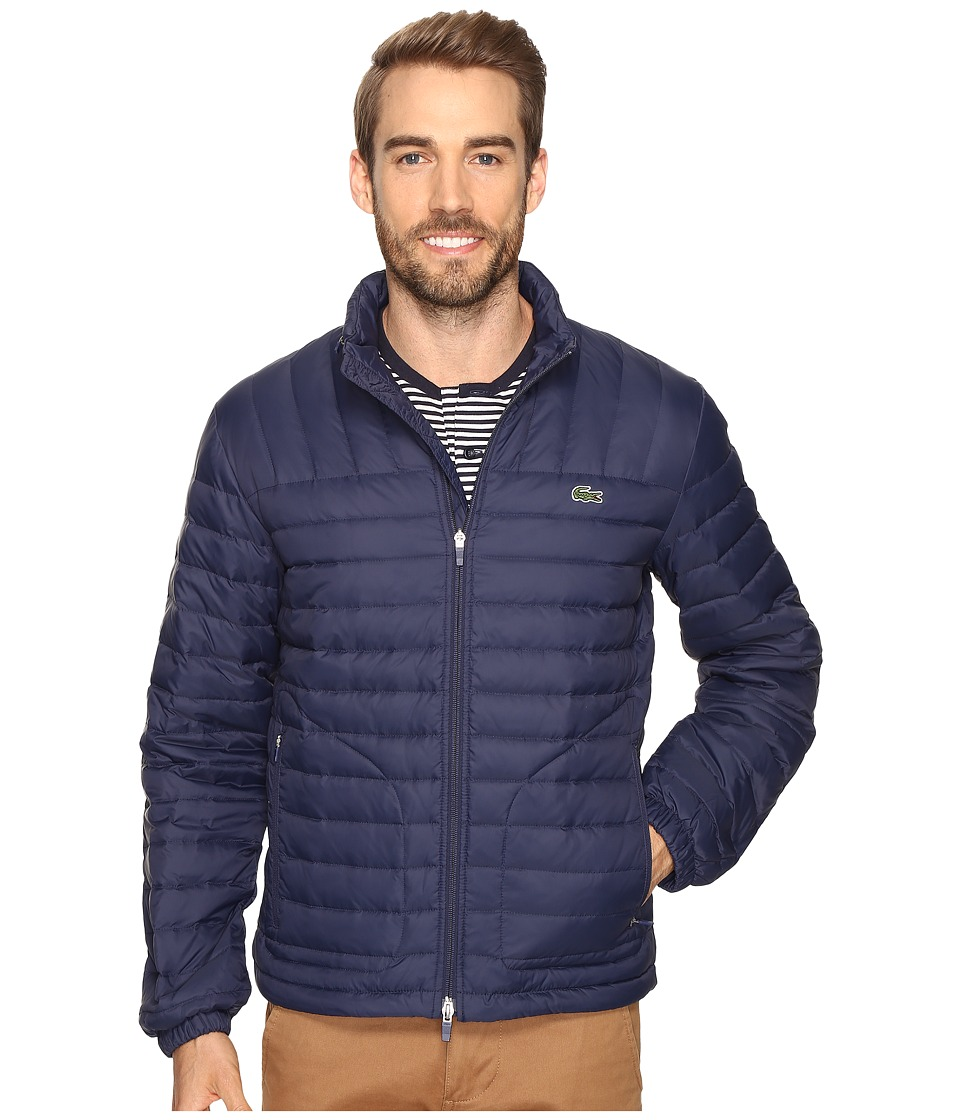 Lacoste - Packable Jacket (Navy Blue) Men's Coat