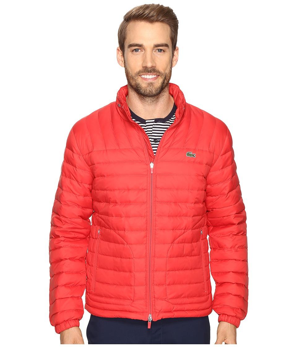 Lacoste - Packable Jacket (Bright Cherry Red) Men's Coat