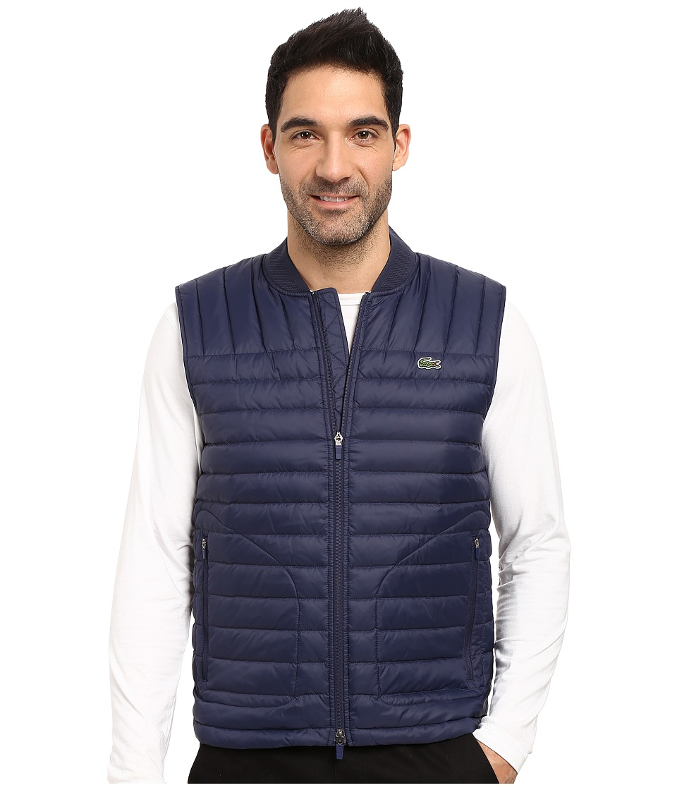 Lacoste - Packable Vest (Navy Blue) Men's Vest