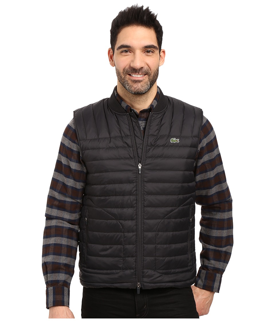Lacoste - Packable Vest (Black) Men's Vest