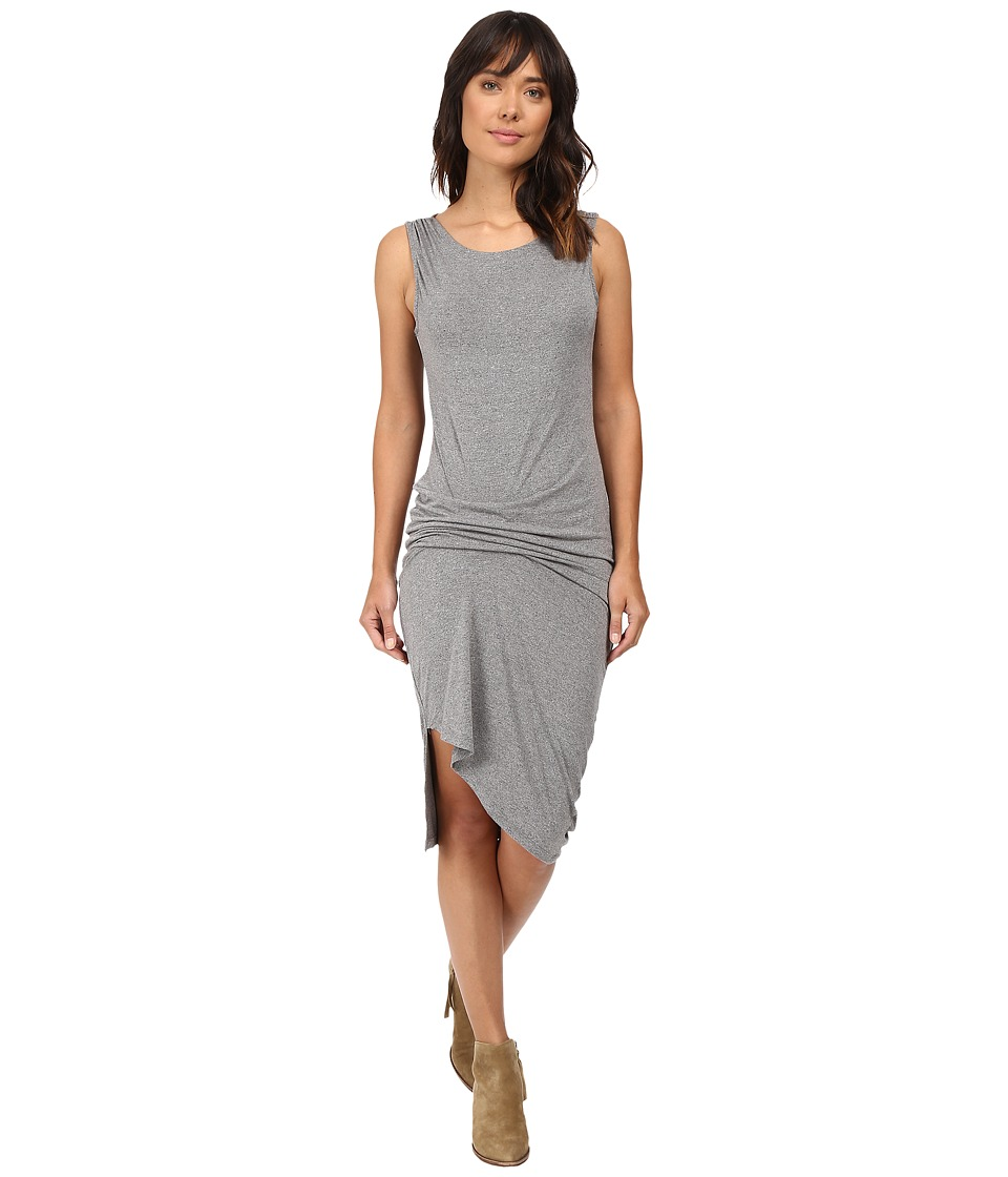 Culture Phit - Ivy Sleeveless Gathered-Side Dress (Heather Charcoal) Women's Dress