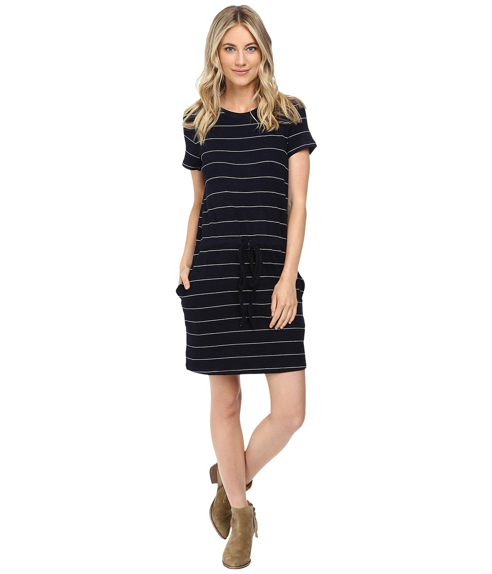 Culture Phit - Eve Short Sleeve Sweater Dress with Drawstring (Navy/White) Women's Dress