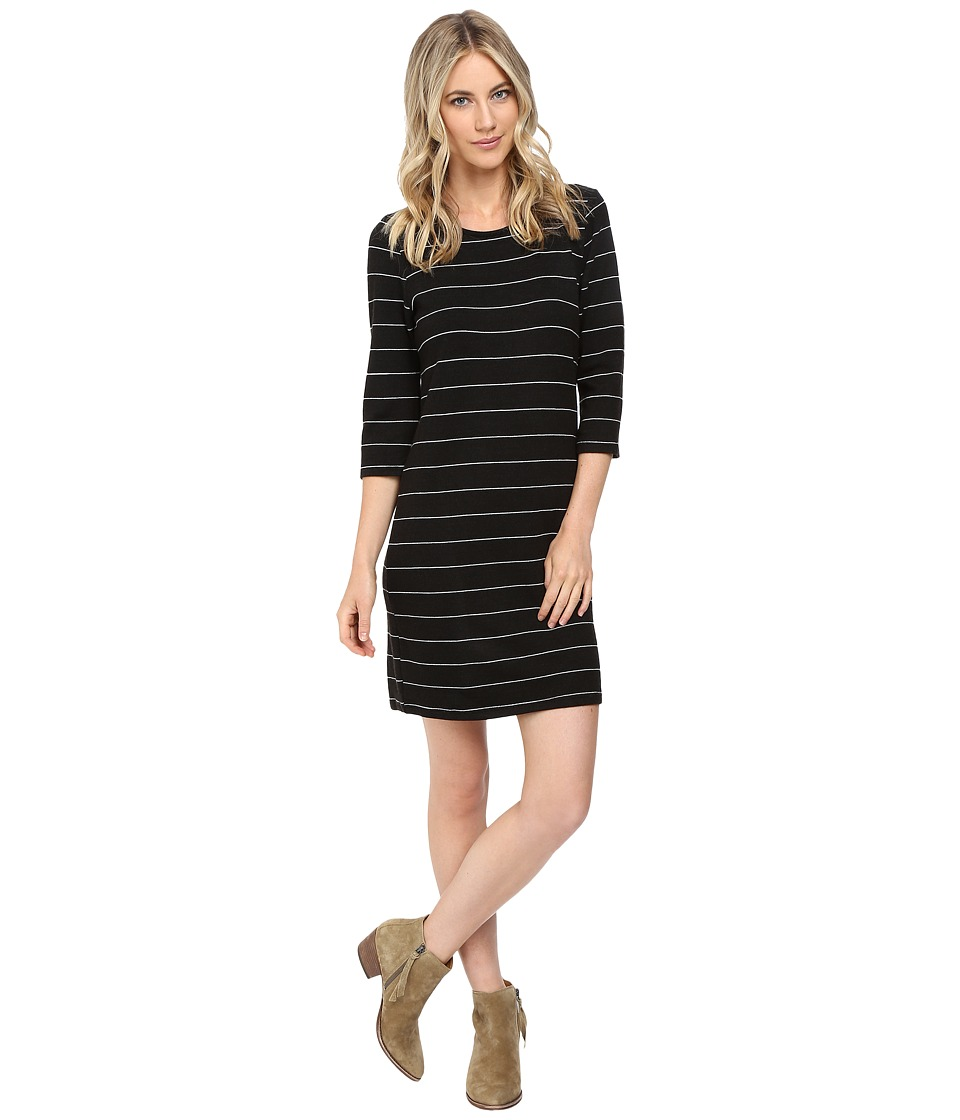 Culture Phit Ainsley Round Neck Sweater Dress (Black/White) Women