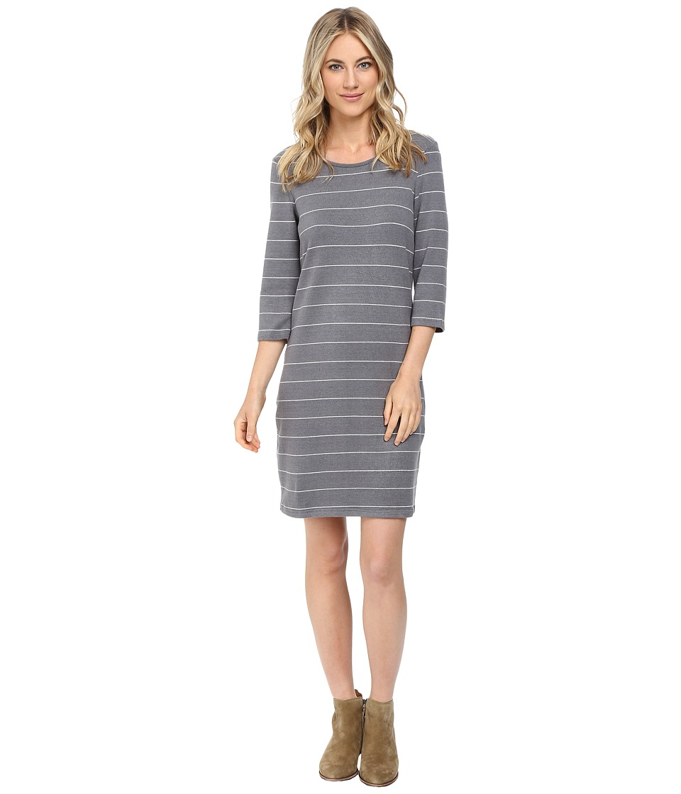 Culture Phit - Ainsley Round Neck Sweater Dress (Grey/White) Women's Dress
