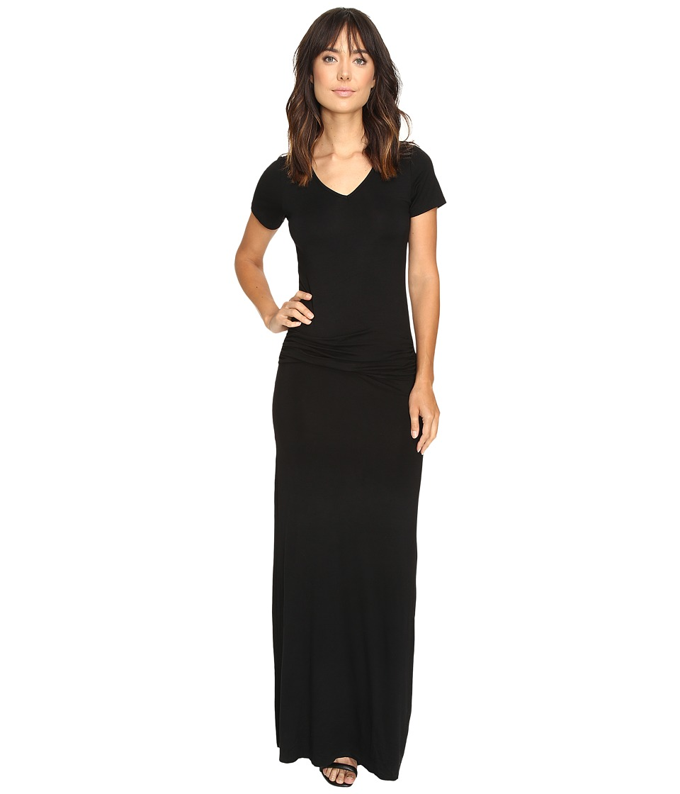 Culture Phit - Carlia Short Sleeve Gathered Maxi Dress (Black) Women's Dress