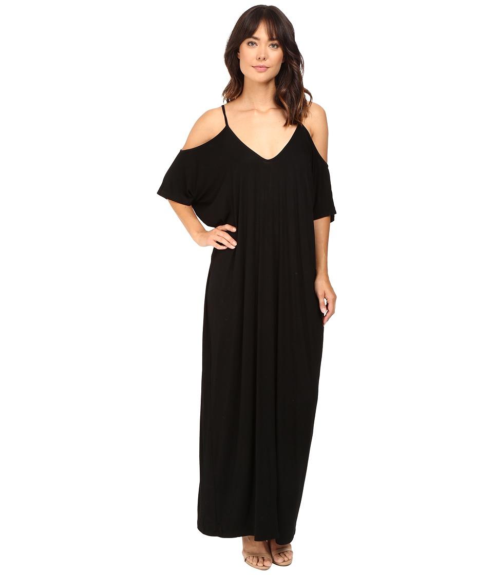 Culture Phit Khayla Cold Shoulder Maxi Dress (Black) Women
