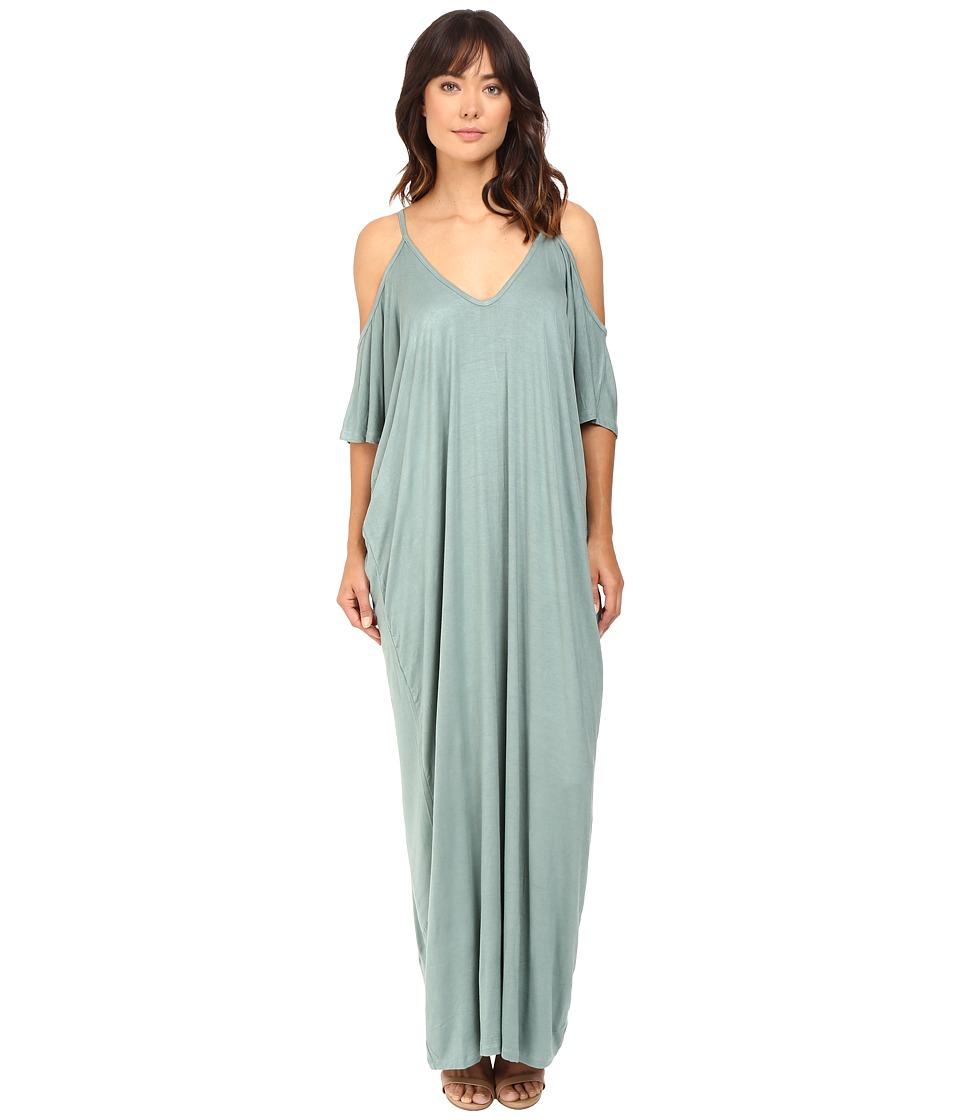 Culture Phit - Khayla Cold Shoulder Maxi Dress (Mossy Green) Women's Dress