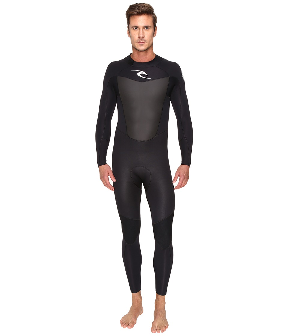 Rip Curl - Omega 3/2 FL STMR (Black) Men's Wetsuits One Piece