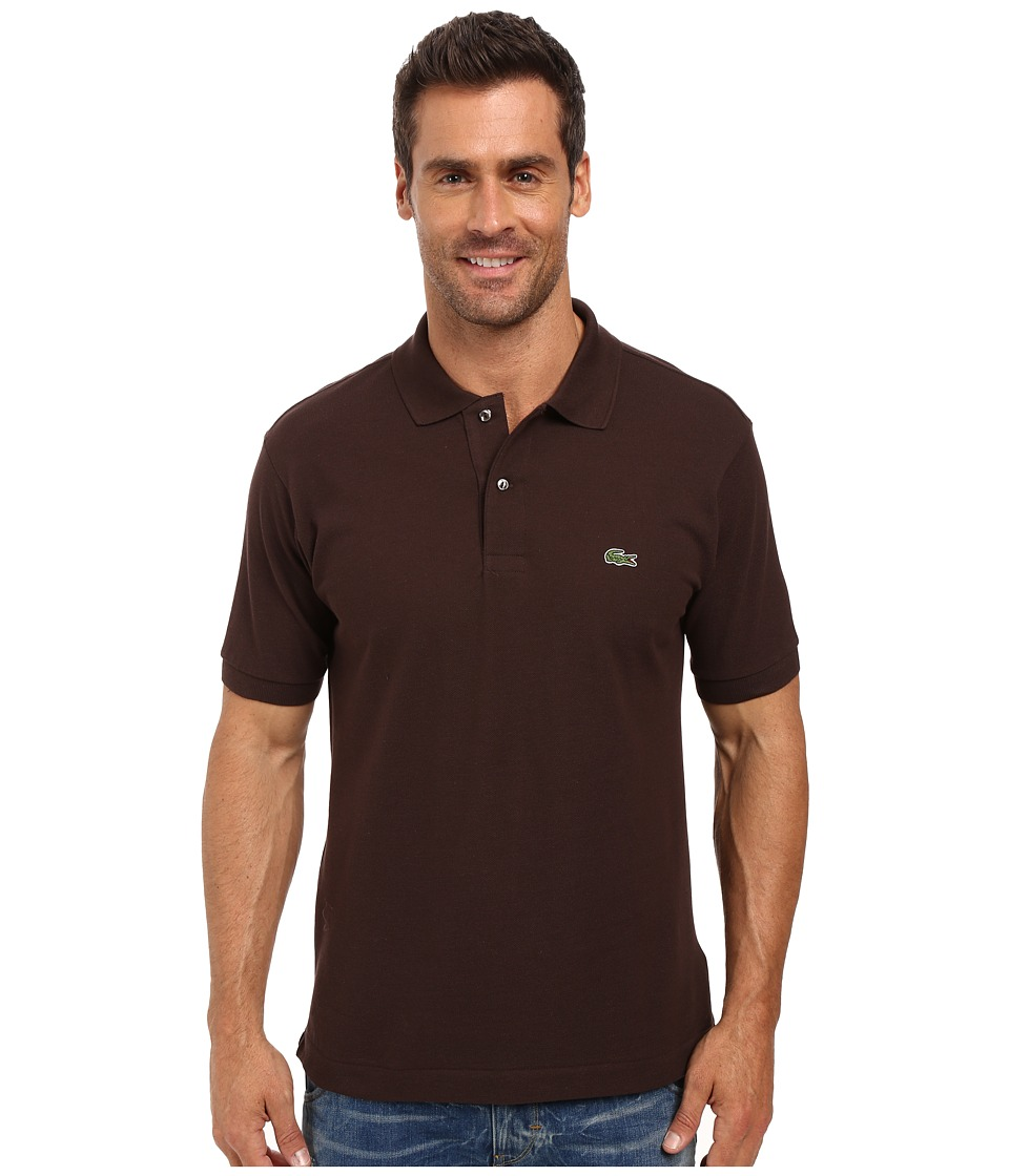 Lacoste - L1212 Classic Pique Polo Shirt (Brownie) Men's Short Sleeve Knit