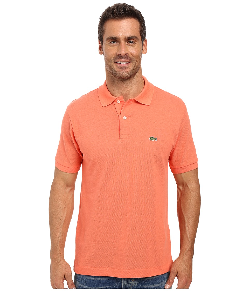 Lacoste - L1212 Classic Pique Polo Shirt (Squash Orange) Men's Short Sleeve Knit