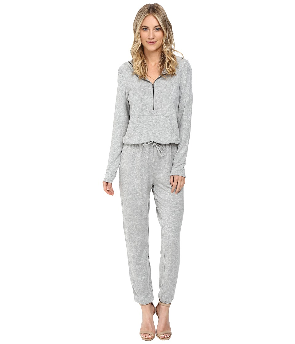 Culture Phit - Dayna Long Sleeve Zip-Up Jumper with Hood (Heather Grey) Women's Jumpsuit & Rompers One Piece