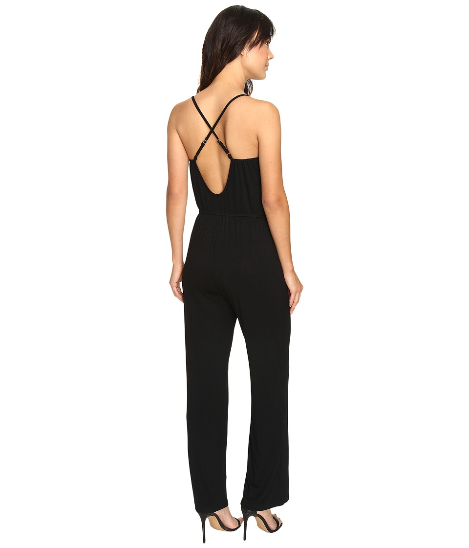 Culture Phit - Jeanette Spaghetti Strap Jumper with Open Back (Black) Women's Jumpsuit & Rompers One Piece