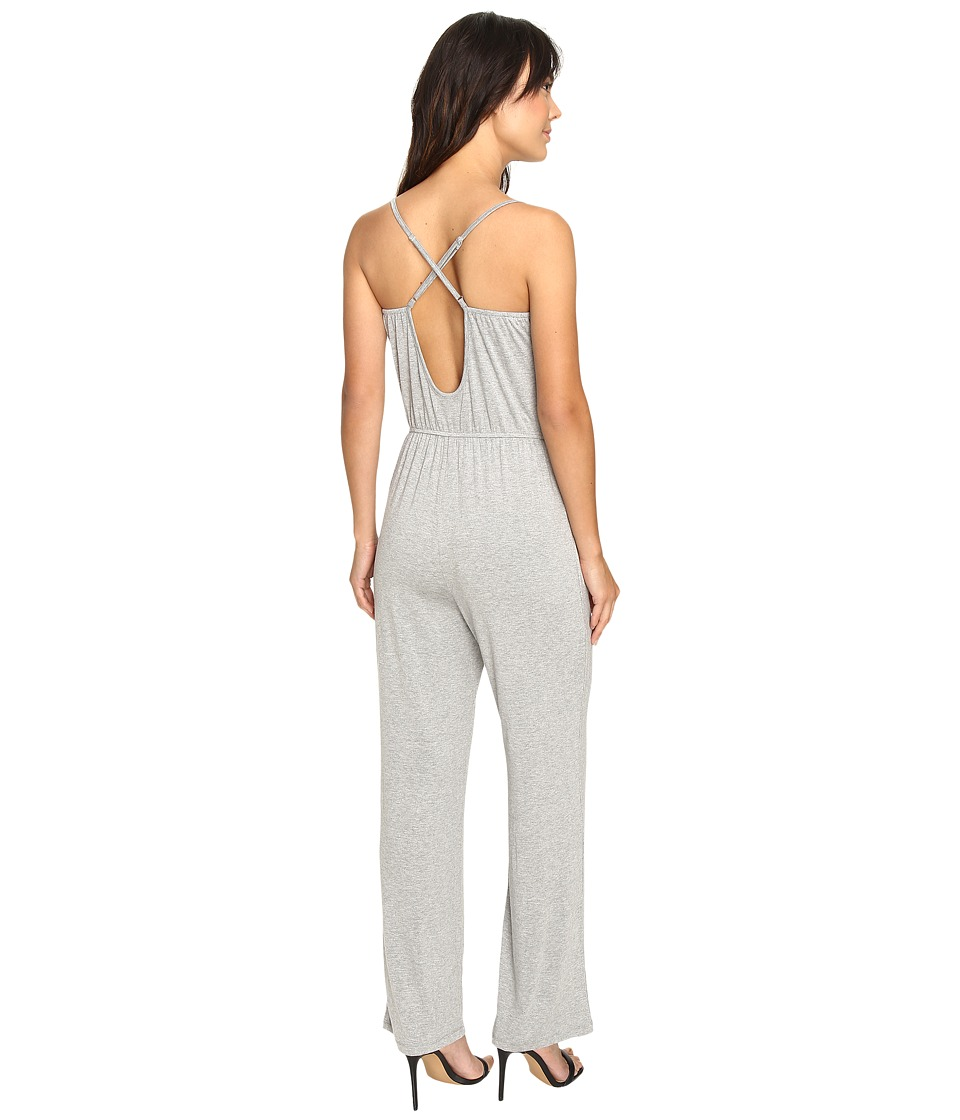 Culture Phit - Jeanette Spaghetti Strap Jumper with Open Back (Heather Grey) Women's Jumpsuit & Rompers One Piece