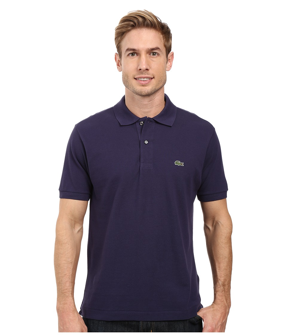 Lacoste - L1212 Classic Pique Polo Shirt (Dark Blue) Men's Short Sleeve Knit