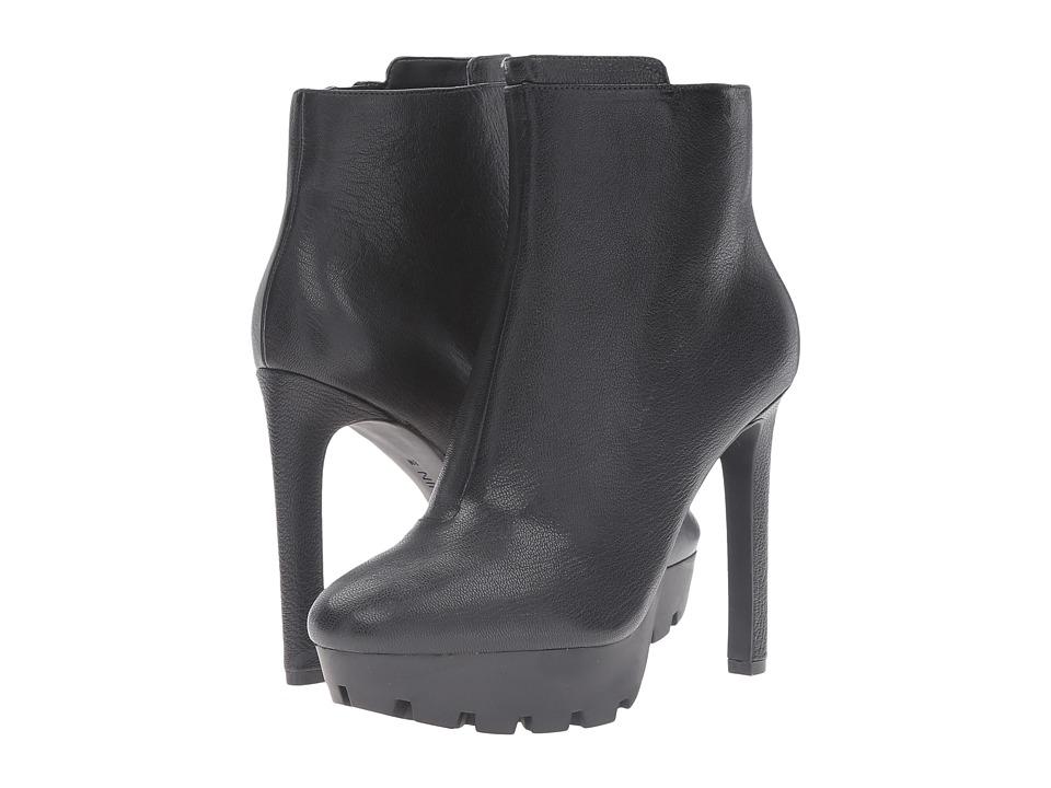 Nine West - Xerin (Black Leather) High Heels