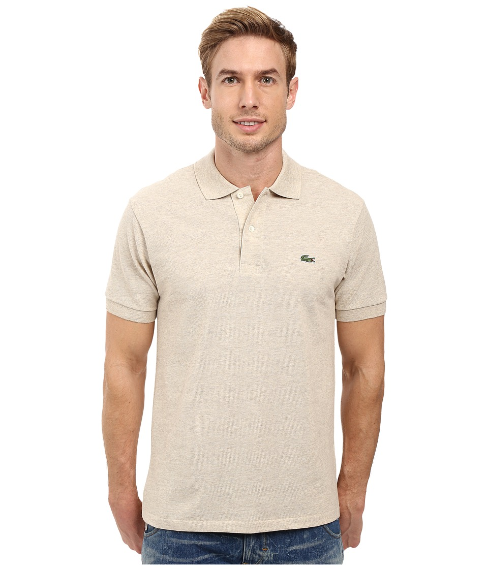 Lacoste - Short Sleeve Original Heathered Pique Polo (Oats Chine) Men's Clothing