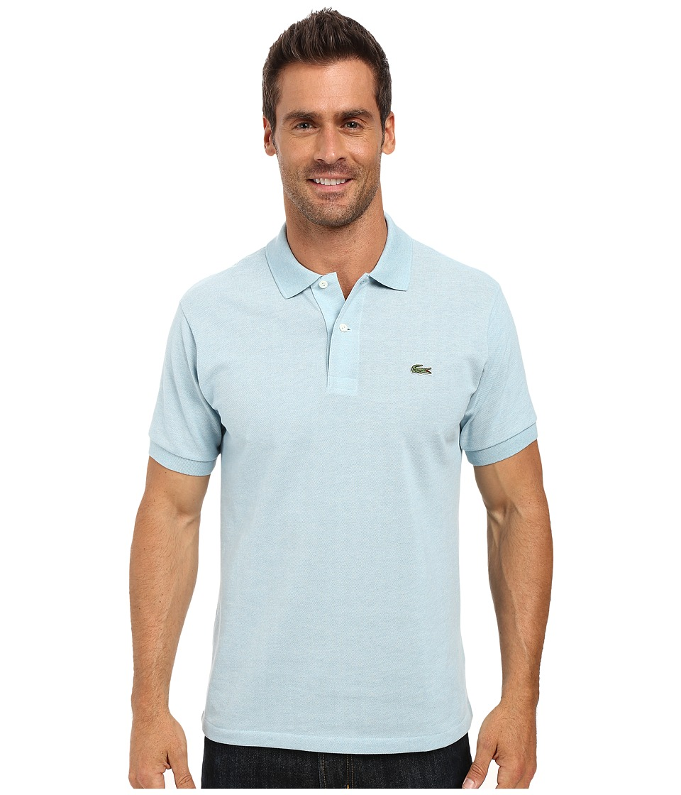 Lacoste - Short Sleeve Original Heathered Pique Polo (Jungle Chine) Men's Clothing