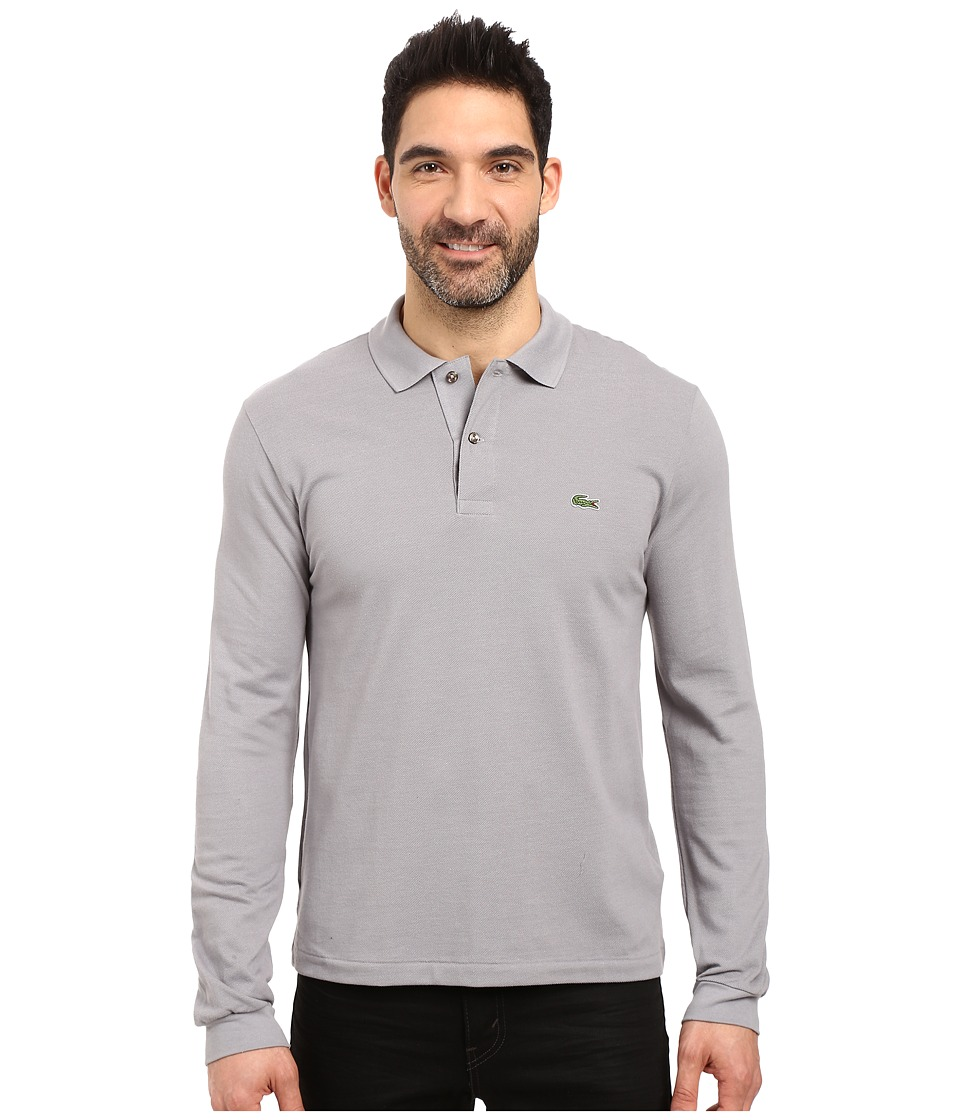 Lacoste - L/S Classic Pique Polo (Platinum Grey) Men's Long Sleeve Pullover