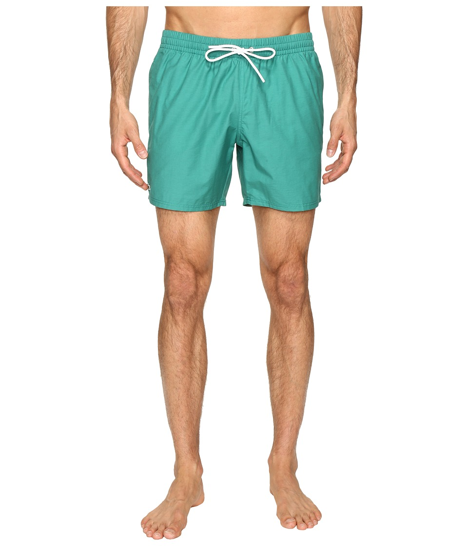 Lacoste - Taffeta Swimming Trunk (Chives/White) Men's Swimwear