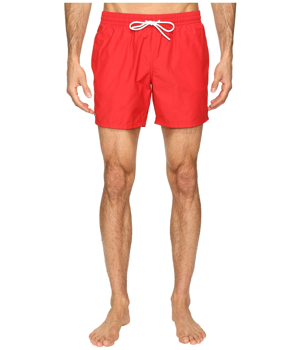Lacoste - Taffeta Swimming Trunk (Bright Cherry Red/White) Men's Swimwear