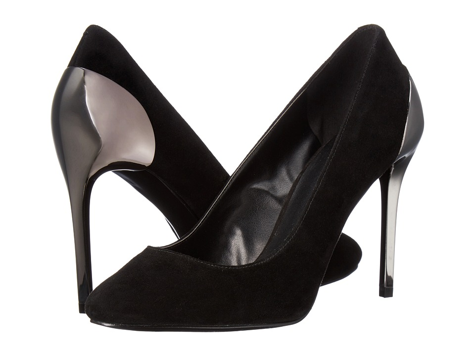 Nine West - Yellia (Black Suede) High Heels