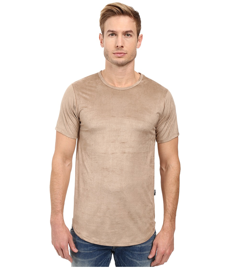 Rustic Dime - Suede Long Tee (Khaki) Men's T Shirt